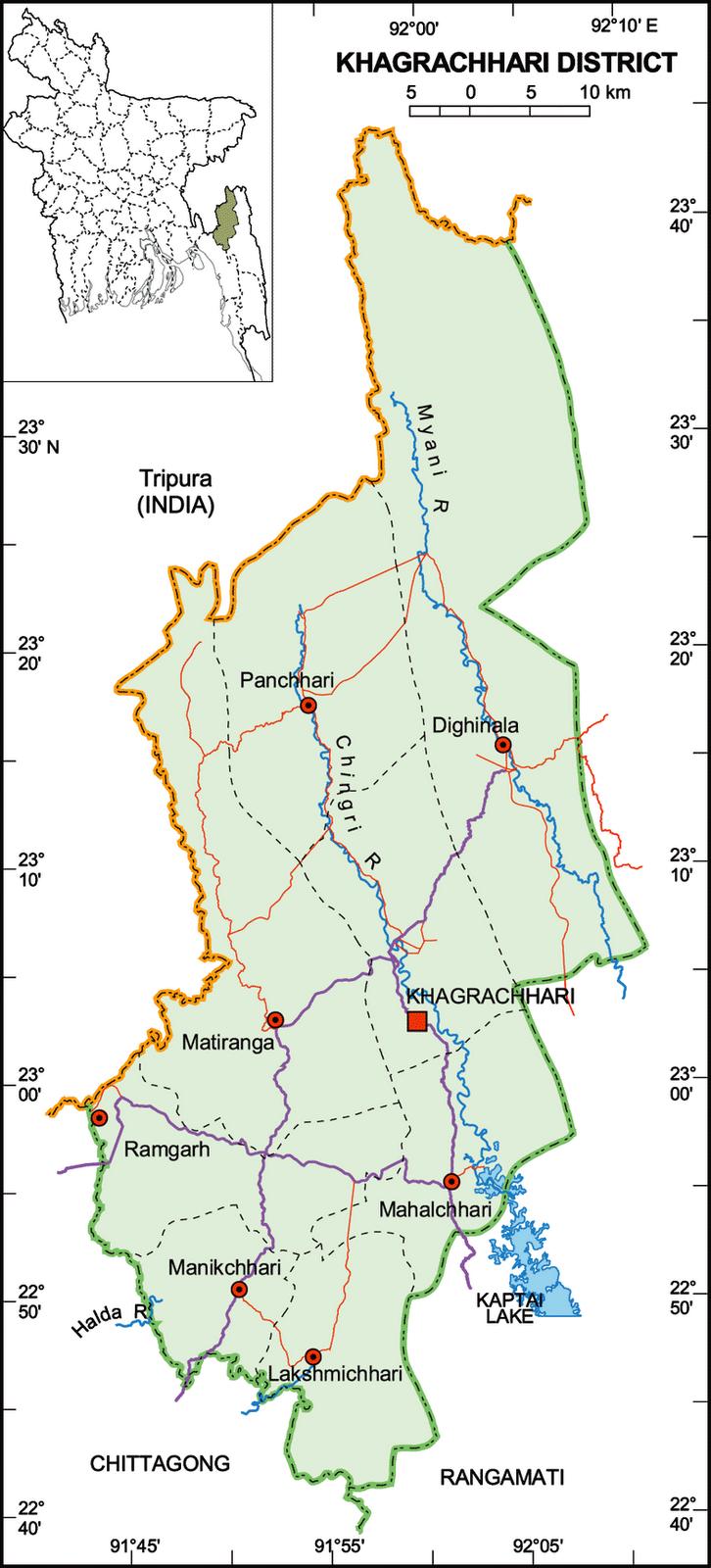Khagrachhari Map